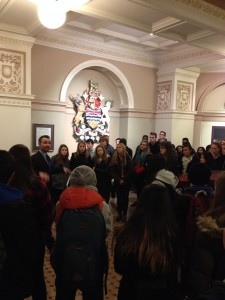 On our guided tour of the Legislature, en francais, bien sur