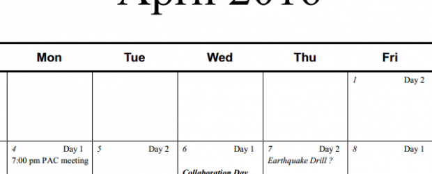 Click to view the Updated School Calendar