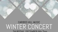 The Cariboo Hill Music Department is excited to present our Winter Concerton Thursday December 8 in the small gym. The evening will feature the Junior and Senior Bands, Jazz Band, […]