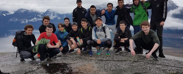 Senior PE and Weight Training classes recently spent a fabulous day hiking the Chief in Squamish.